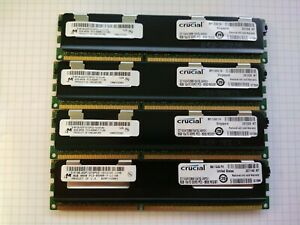 32GB (4x 8GB) Micron (Crucial) PC3-8500R 1066MHz DDR3 ECC Reg Server RAM