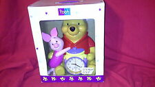 2001 DISNEY WINNIE THE POOH & PIGLET Musical Alarm Clock Bank