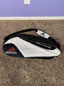 VTG 90s Adidas Barricade Black/White Sport Backpack Tennis Racket Bag