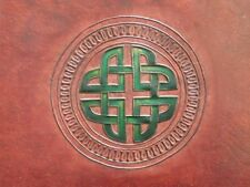 A4 Handmade Leather Sketchbook Journal - CELTIC KNOT - Pages Cartridge Art Paper