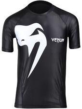 Venum Mens Giant Short Sleeve Rashguard Compression Shirt - Black - Small
