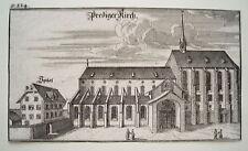 Zürich  Prediger Kirche  Schweiz Bluntschli  echter alter Kupferstich 1742