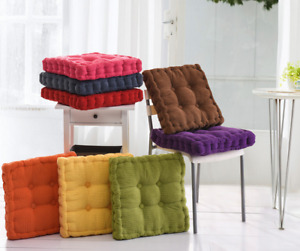 Cotton Chunky Booster Cushion Thick Seat Pads Chair Armchair Garden Sofa Seat K1