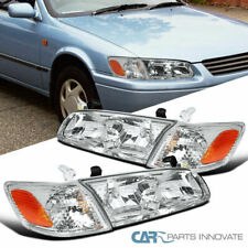 For Toyota 00-01 Camry Clear Lens Headlights Corner Turn Signal Lamps Left+Right