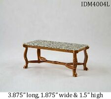 MARBLE COFFEE TABLE 1:12 DOLLHOUSE MINIATURES by IDM Heirloom Collection