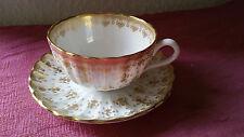 orig. Wedgwood Fleur De Lys Gold  6 Teetassen + 6 Untertassen Top !!!