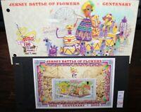 JERSEY 2002 CENTENARIO BATTAGLIA DEI FIORI FOGLIO NUOVO MNH** BLOCK (5 69)
