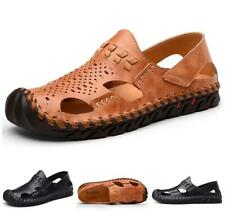 Sandals Shoes Men Hollow Out Trail Slip On Beach Pump Casuals Comfort Summer New