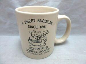 Advertising mug. Schimpff's Confectionery. Jeffersonville, IN