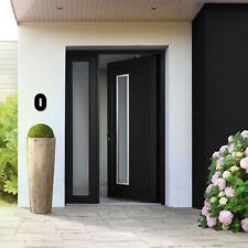 HOUSE NUMBER 0 Bauhaus Acrylic Large Floating Stylish Modern Gloss Black DIY