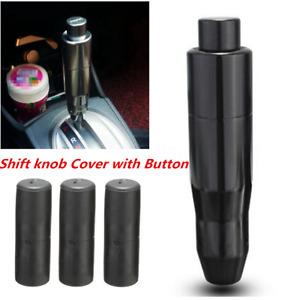 Universal Automatic Aluminum Manual Car Gear Shift Knob Shifter Lever Button Kit