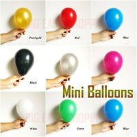 "10 -100 Quality 5"" INCH Small Round Latex Balloons All Birthday Parties Ballons"