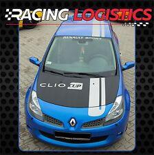 Renault Clio CUP Franjas de carreras Techo Capo Vinilo Adhesivo Pegatina rayas