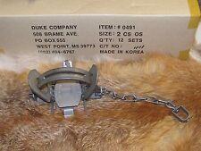 1 Duke #2 Coil Spring offsetTraps Raccoon Coyote Bobcat Fox Lynx Otter New Sale