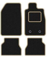 TOYOTA YARIS 2006-2011 TAILORED BLACK CAR MATS WITH BEIGE TRIM