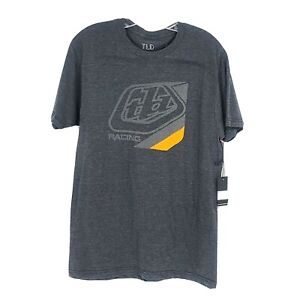 Troy Lee Designs Mens Short Sleeve Precision T Shirt Size M New Charcoal Heather