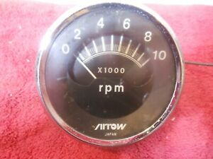 Arrow Top Sweep Tachometer Vintage Snowmobile Speedway TACH working used
