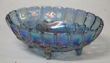 """Fenton Style Art Glass Embossed Fruit Footed Bowl 12.25"""" X 4.5""""   Pre-Owned"""