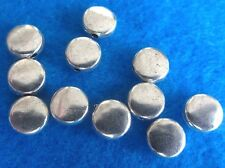 20 Antique Silver Flat Round Spacer Beads Metal Charm 7 MM