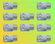 10 x Gabelkopf 8x16 M8 links - verzinkt - ohne Zubehör - Gabelgelenk Gabelköpfe
