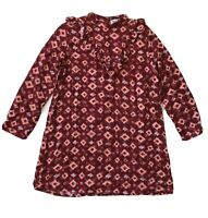 Bohemian Traders Long Sleeve High Neck Frill Top Red Silver Spots Size 10
