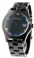 Marc By Marc Jacobs Henry Women's Black Stainless Steel Watch MBM8601 NEW