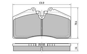RDA PHANTOM CERAMIC FRONT BRAKE PADS for HSV HARROP 4Pot VT VU VX VY VZ RDC2155