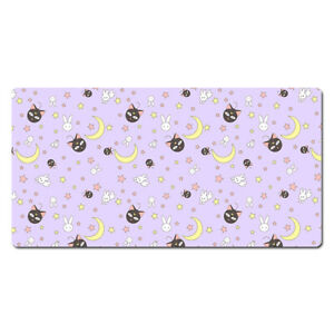"Sailor Moon Luna Gaming Mouse Pad Keyboard Desk Mat Large 23"" Inch"