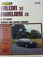 Gregorys SP No 208 Ford Falcon XE Fairlane ZK 6 Cylinder 1982-84 Service Manual