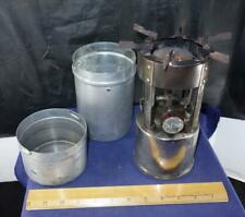 Vintage Coleman Single Burner Camp Pocket Stove w/ Metal Case 530 !!