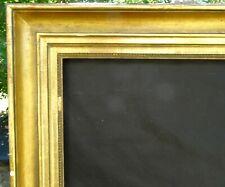 N° 664 CADRE Restauration Bois doré XIXème pour chassis 88 x 71.5 cm