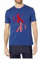 Calvin Klein Jeans Mens T-Shirt Blue Size XL Monogram Graphic Tee $39 147