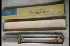 New listing Antique Taylor Candy & Jelly Thermometer Original Box Recipes Blue