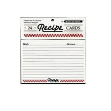 "KSC 4 x 6"" Recipe Cards, Set of 24 (2412)"