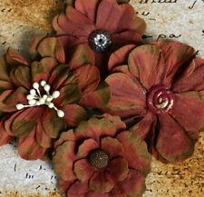 Petaloo Flowers Darjeeling Collection - Burgundy Asst