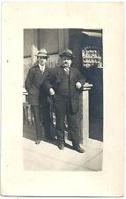 Real Photo Postcard ~ Men Outside the Presidio Ave Show Shop  S F CA  c1920