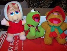 Rare Vintage 1988 McDonald's Baby Kermit Frog, Miss Piggy & Fozzy Muppets Plush