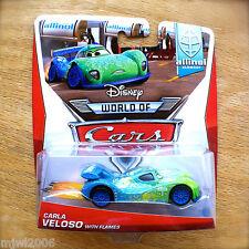 Disney World of Cars CARLA VELOSO with FLAMES 2014 ALLINOL BLOWOUT diecast 1/9
