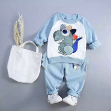 Toddler Kids Baby Boy Outfit Long Sleeve Shirt Top Sweater+Pants Clothes Set