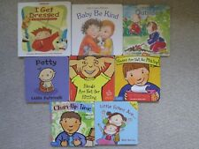 BOARD BOOK LOT 8~Noses Not Picking~Hands Not Hitting~Clean-Up Time~Little Sister