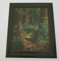 PURVIANCE ORIGINAL OIL PAINTING RED WOOD FOREST? CALIFORNIA LANDSCAPE WOODS