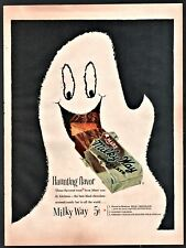 1954 MILKY WAY Candy Halloween Ghost Vintage Print AD