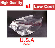 1000 8X4X15 1.5 Mil LDPE Clear Poly Bags Side Gusset Produce Parts Meat Packing