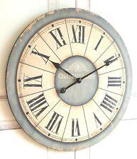 """Wanduhr """"Antik"""" in im Landhaus Shabby Chic french Stil, Durchmesser 60cm"""