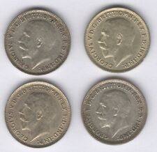 More details for 1920,1922,1925 & 1926 george v silver threepence coin |bulk coins|pennies2pounds
