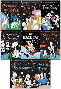Funny Bones 8 Books Collection Set  By Allan Ahlberg Ghost Train, Skeleton Crew
