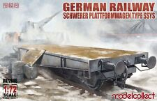 Modelcollect UA72086 , German Railway Schwerer Plattformwagen Type ssys 1+1 pack
