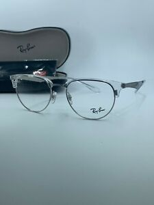 NEW Authentic Ray Ban RB 6396 2936 Clear and Silver Frame 51mm  FAST  SHIP