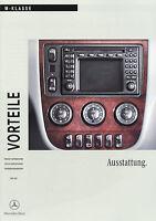 Mercedes M-Klasse Vorteile Ausstattung 2001 6/01 Publikation Prospekt brochure