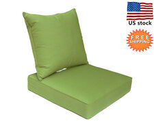 Bossima Sunbrella Outdoor Chair Cushions Patio Deep Seat Pad Set Seasonal Green